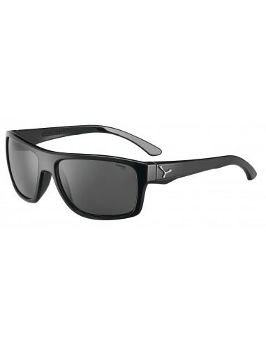 Vista desde la diagonal izquierda de las gafas deportivas Cebé: Empire Shiny Black.