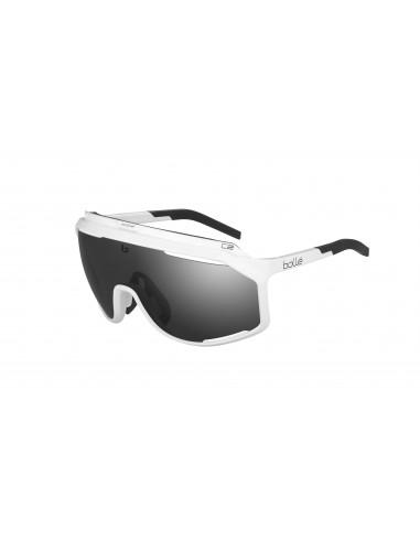 Vista desde la diagonal izquierda de las gafas deportivas Bollé: Chronoshield Shiny White.