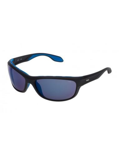 Vista desde la diagonal izquierda de las gafas deportivas Fila: 9044V col. U28B.