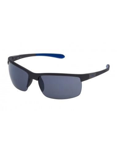 Vista desde la diagonal izquierda de las gafas deportivas Fila: 9144 col. T17X.