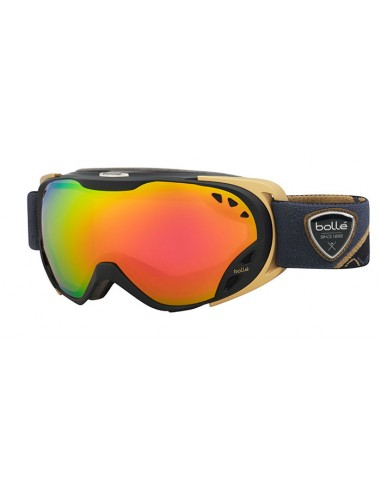 Vista desde la diagonal izquierda de las gafas deportivas Bollé: Duchess Black & Gold - Rose Gold Lens.