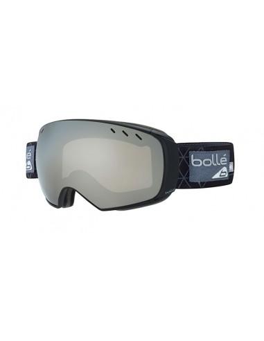 Vista desde la diagonal izquierda de las gafas deportivas Bollé: Virtuose Black & Grey Iceberg - Black Chrome Lens.