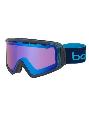 Vista desde la diagonal izquierda de las gafas deportivas Bollé: Z5 OTG Matte Navy & Blue Natura.