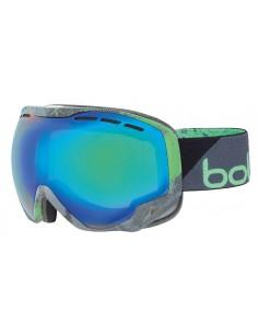 Vista desde la diagonal izquierda de las gafas deportivas Bollé: Emperor Black & Green Zenith.