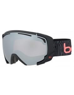 Vista desde la diagonal izquierda de las gafas deportivas Bollé: Supreme OTG Matte Black & Neon Orange.