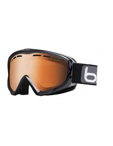 Vista desde la diagonal izquierda de las gafas deportivas Bollé: Y6 OTG Shiny Black.