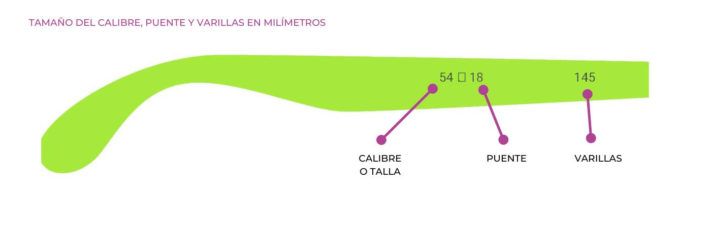 Componentes de las varillas de las gafas de sol