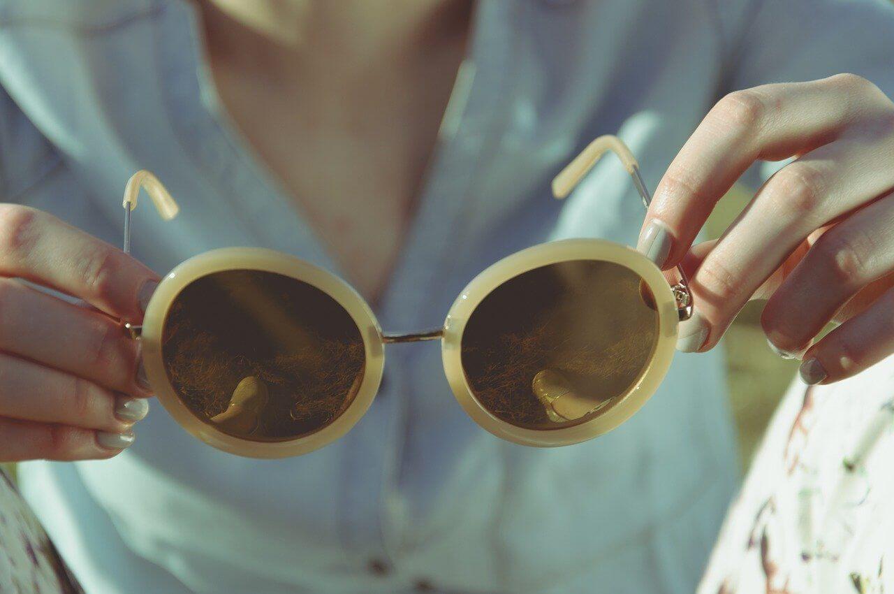 Gafas de sol de  mujer años 60 y 70