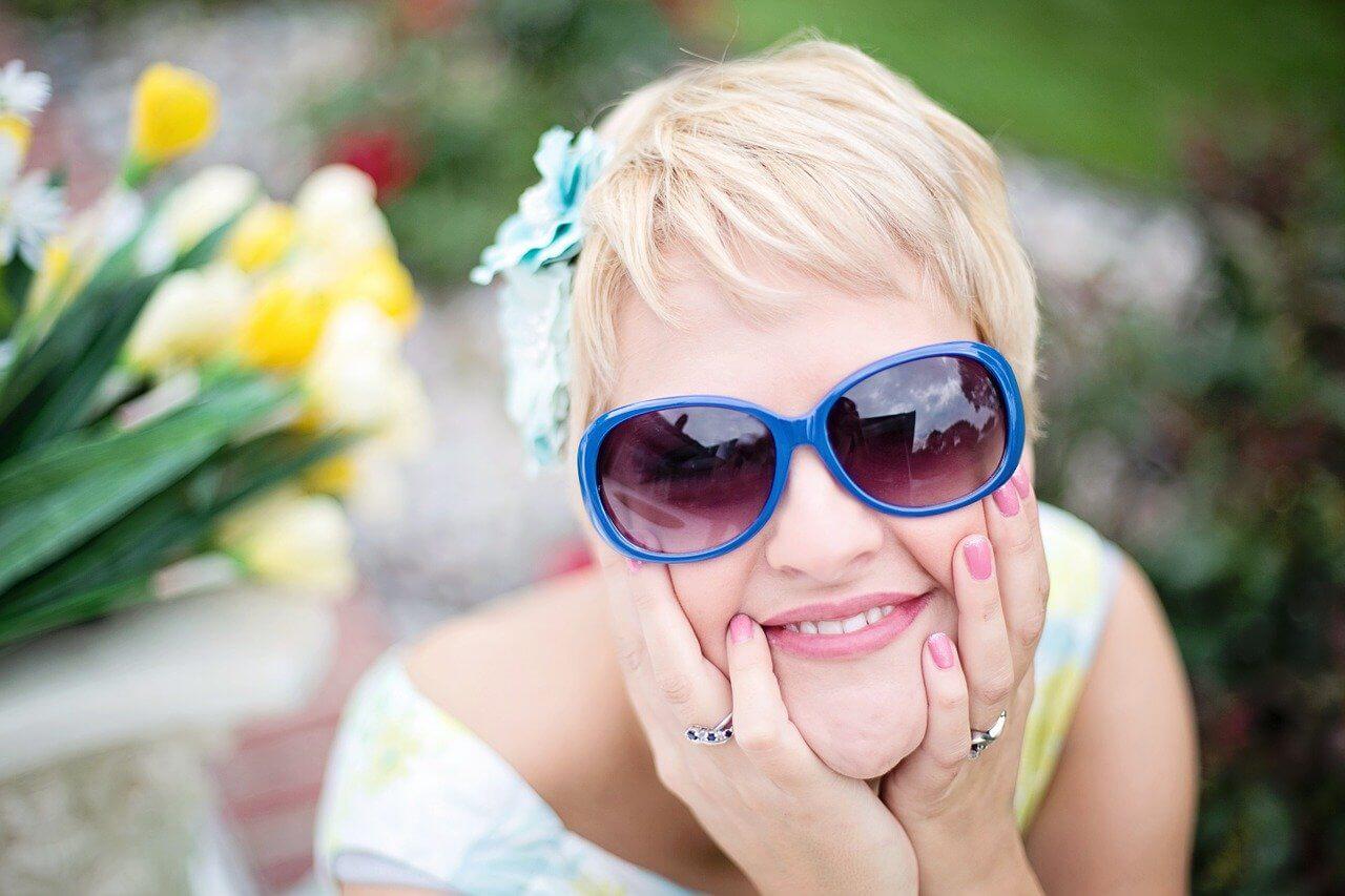 Lentes Maxi en gafas de sol de los años 70