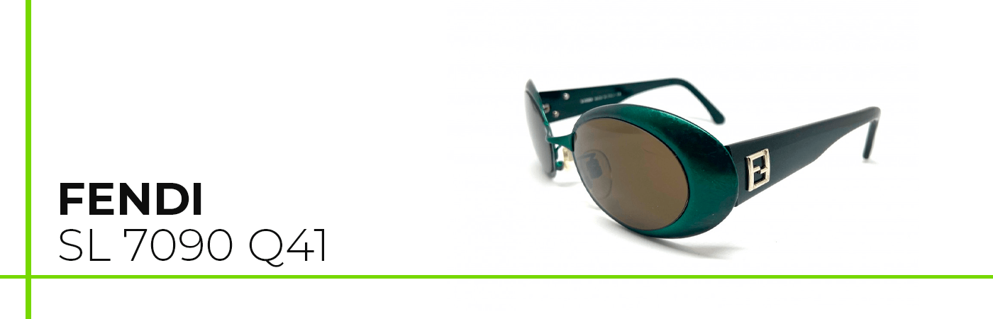 Modelo de gafa de sol vintage Fendi