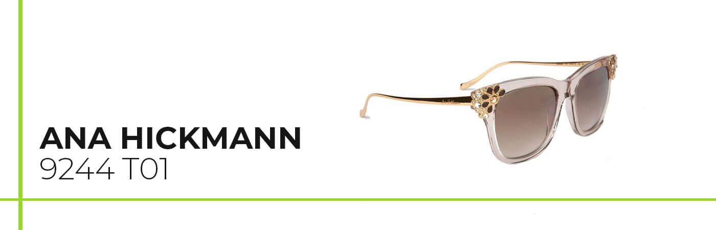 Ana Hickmann modelo de gafas de sol ideal para rostros alargados y con nariz grande