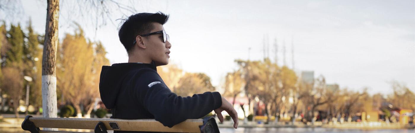 gafas de sol rectangulares cara alargada hombre