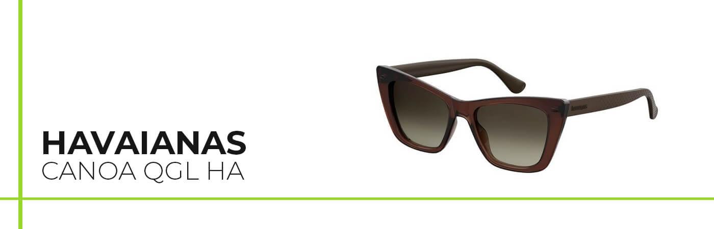 Modelo Havainas de gafas de sol para caras alargadas y con nariz grande.